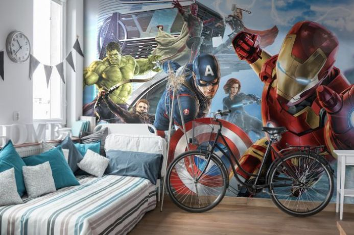 Avengers paper wallpaper | Homewallmurals